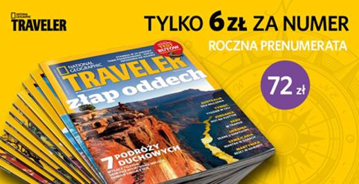 Traveler - roczna prenumerata -40%