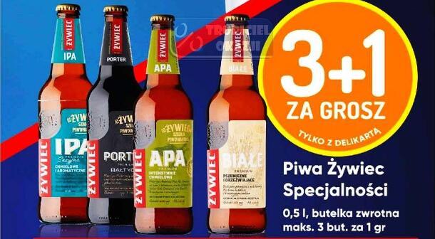 Piwo Żywiec Specjalności różne rodzaje 0,5l 3+1 za 1gr|Książęce 0,5l 3 rodzaje @Delikatesy Centrum @Mila