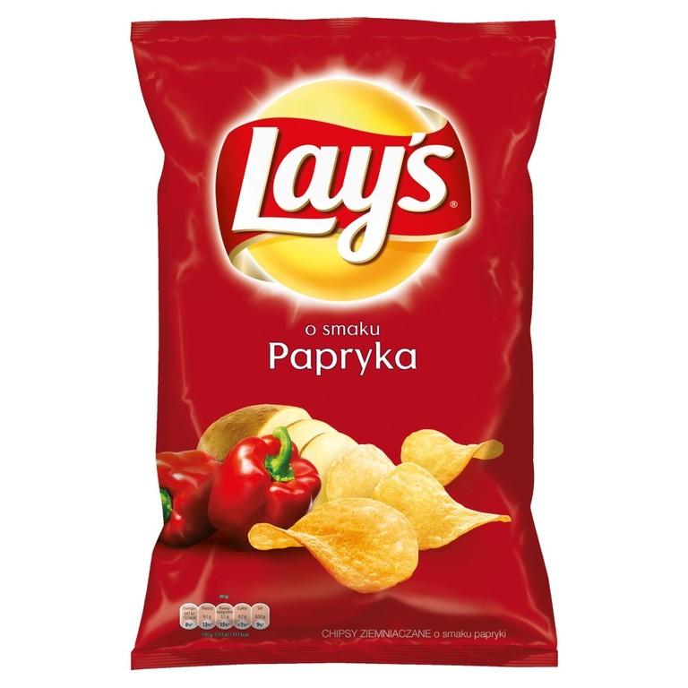 Stokrotka Online Lay's o smaku Papryka Chipsy ziemniaczane 140 g