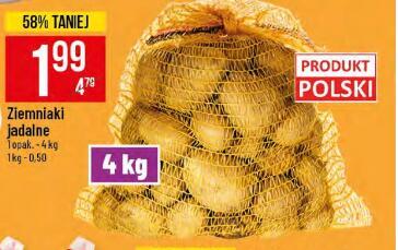 Ziemniaki 4kg (0,50 zł/kg) @Polomarket