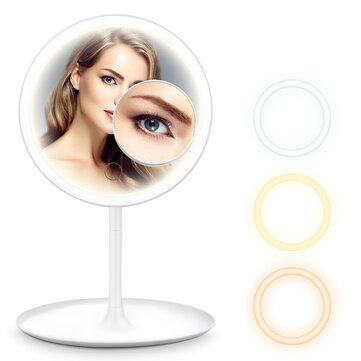 Podświetlane lusterko do makijażu HOCOSY LED z powiększeniem