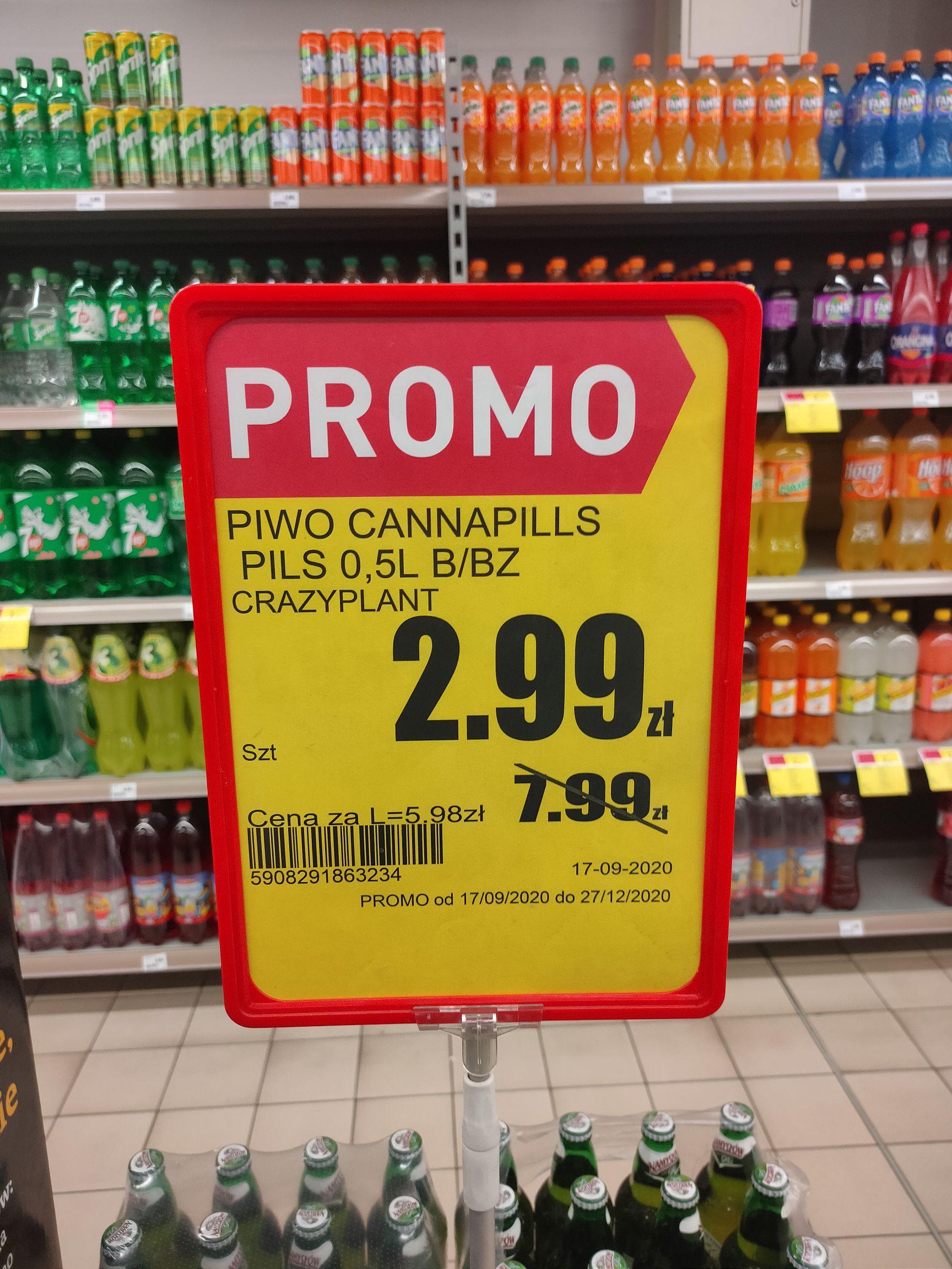 Piwo Cannapills 2.99 @ Intermarche