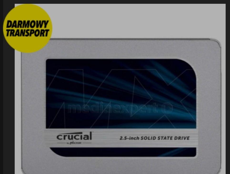 Dysk SSD Crucial MX500 1 TB SATA, transport gratis