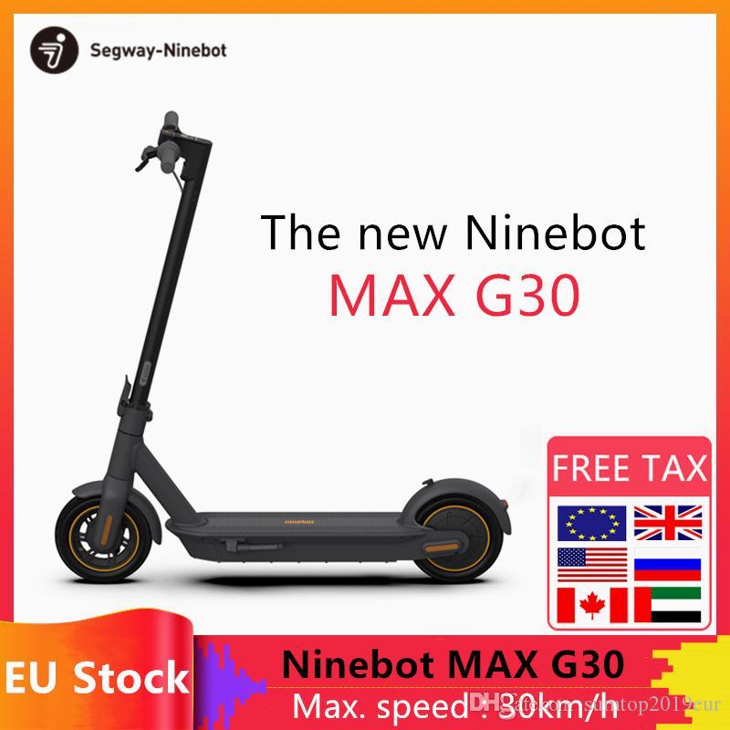 Hulajnoga elektryczna Segway-Ninebot MAX G30 z polskiego magazynu (10-calowe koła, do 65 km zasiegu) @DHgate