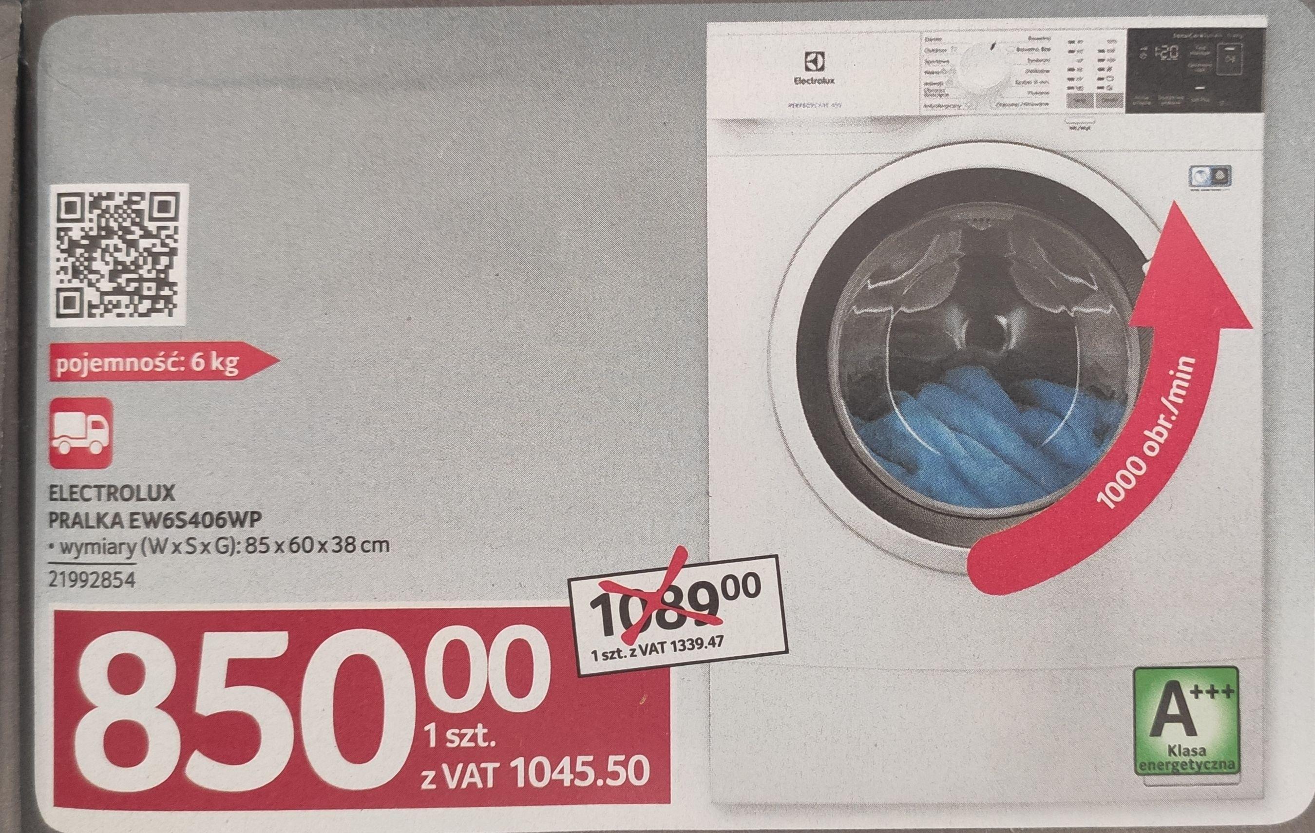 Pralka Electrolux EW6S406WP Selgros