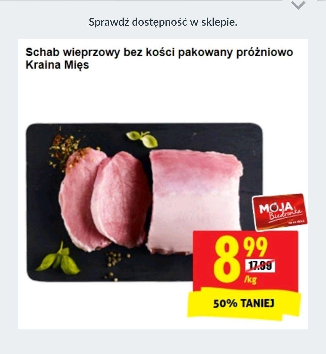 Biedronka, schab wieprzowy pakowany próżniowo cena za 1kg