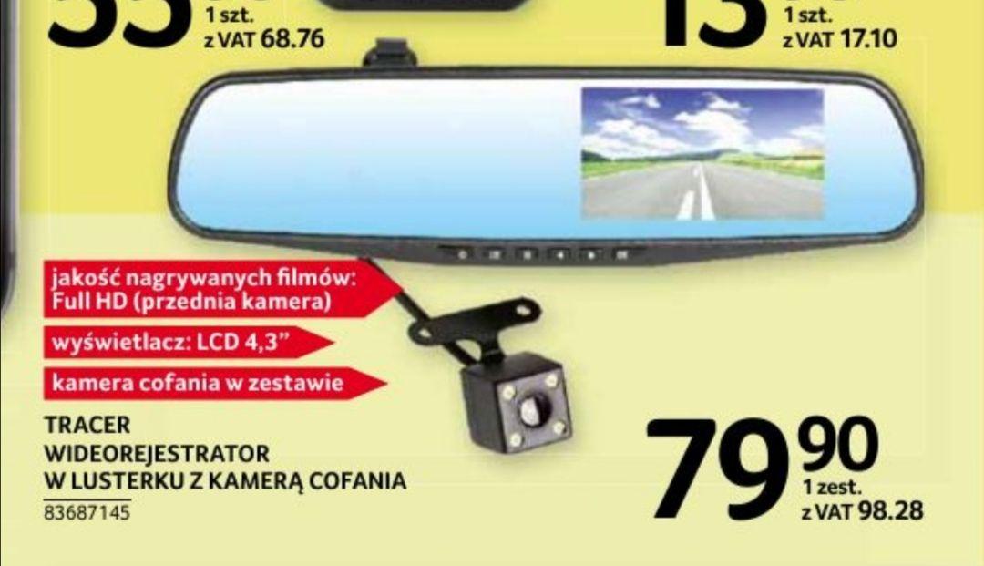 Wideorejestrator FHDw lusterku z kamerą cofania Tracer Selgros