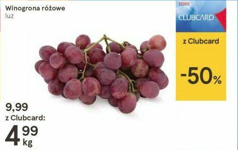 Winogrona różowe 4,99pln/kg Tesco