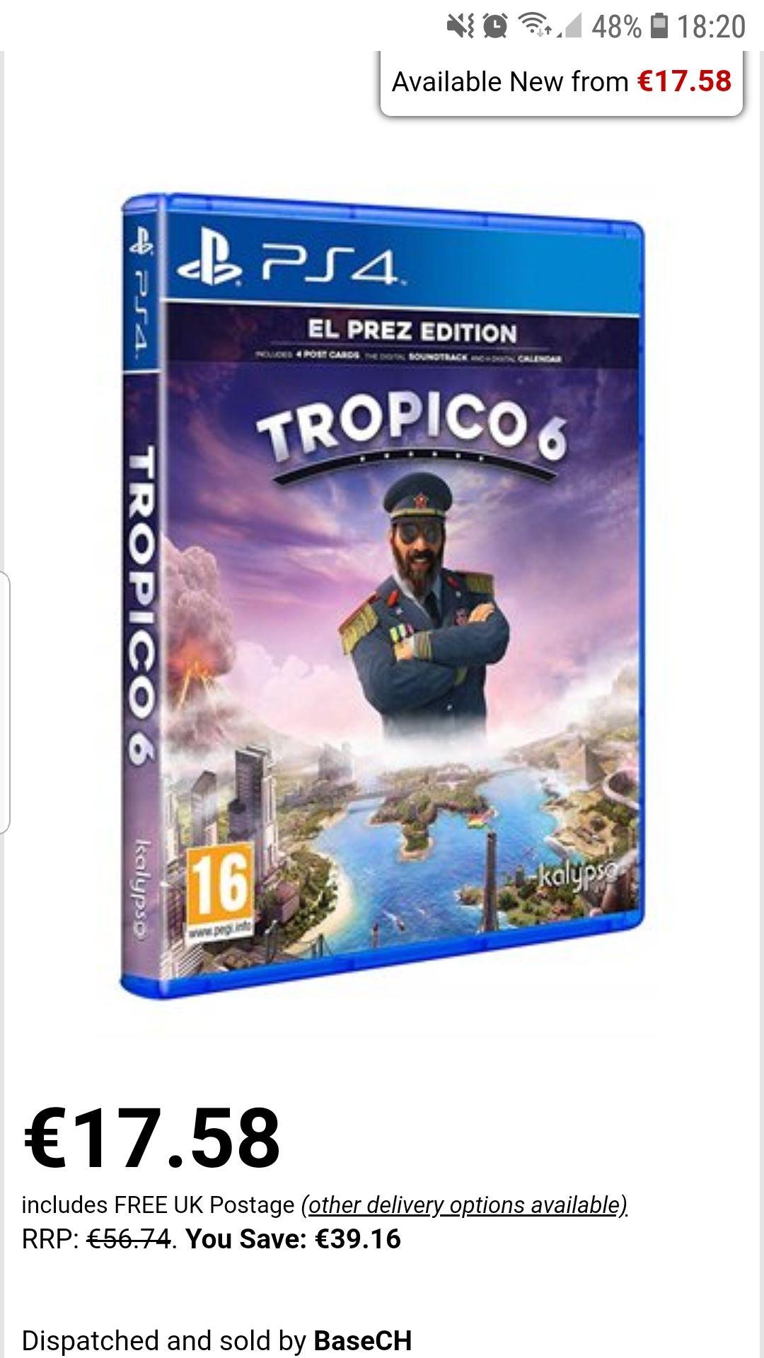 Tropico 6 - El Prez Edition (PS4) BASE 17.58€
