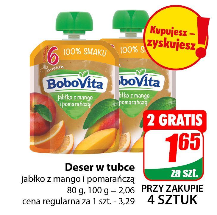 Deser w tubce BoboVita 80g (cena przy zakupie 4szt.) - DINO