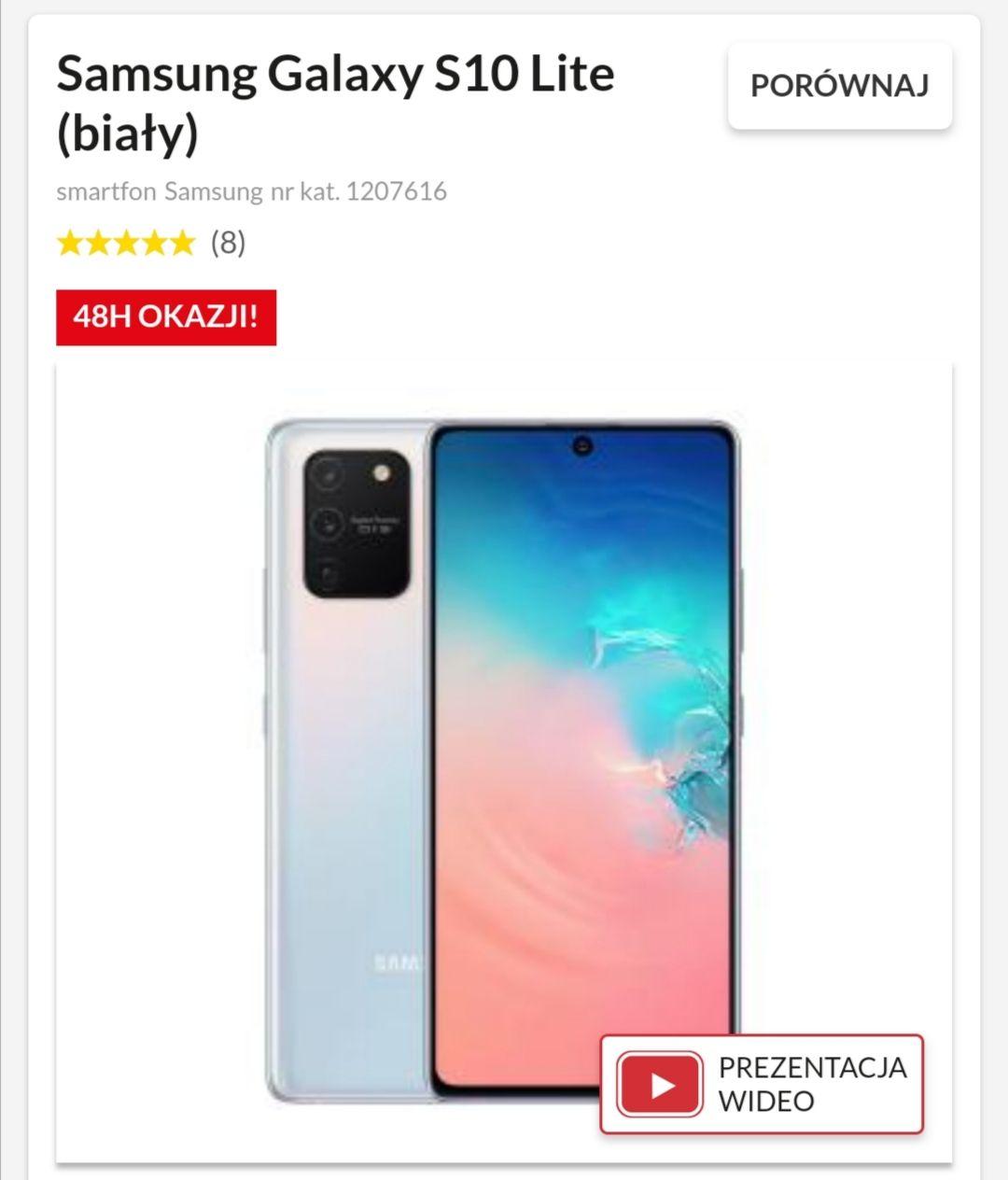 Samsung s10 lite czarny