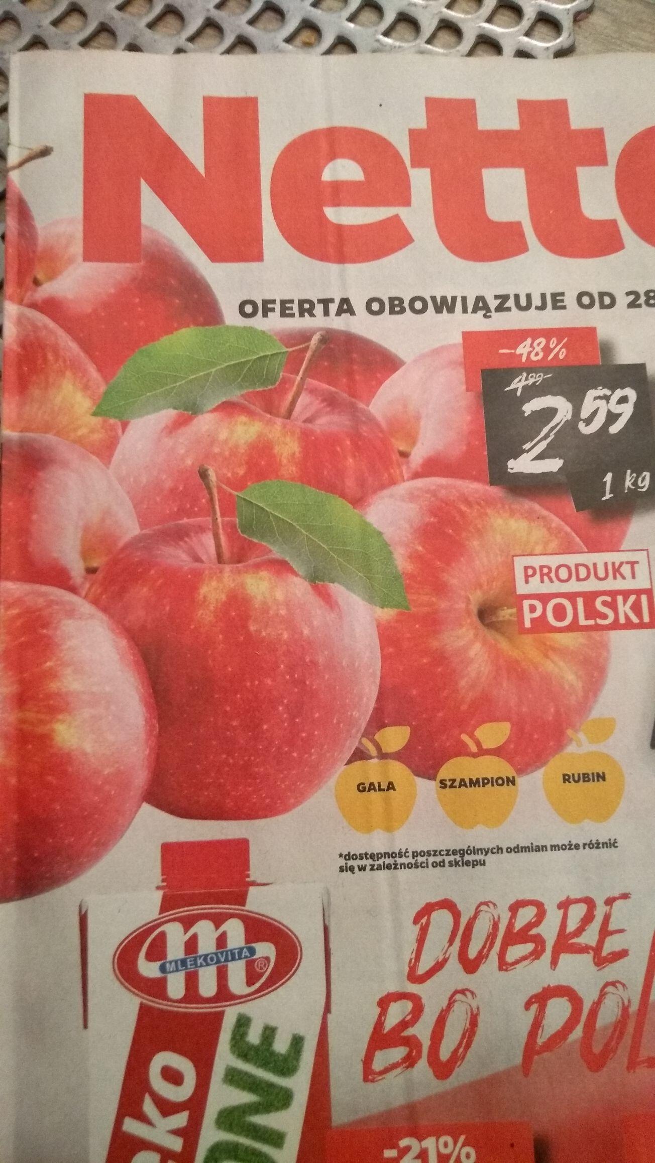 Polskie jabłka w Netto