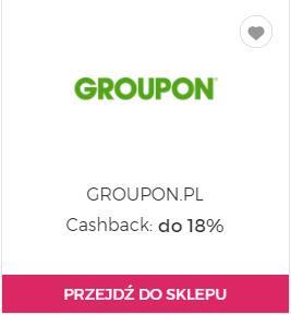 18% Cashback na Groupona w Goodie oraz 10% zniżki w kategorii Twoje Miasto