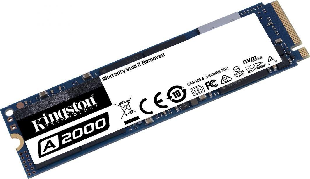 Dysk SSD Kingston A2000 1 TB M.2 2280 PCI-E x4 Gen3 NVMe