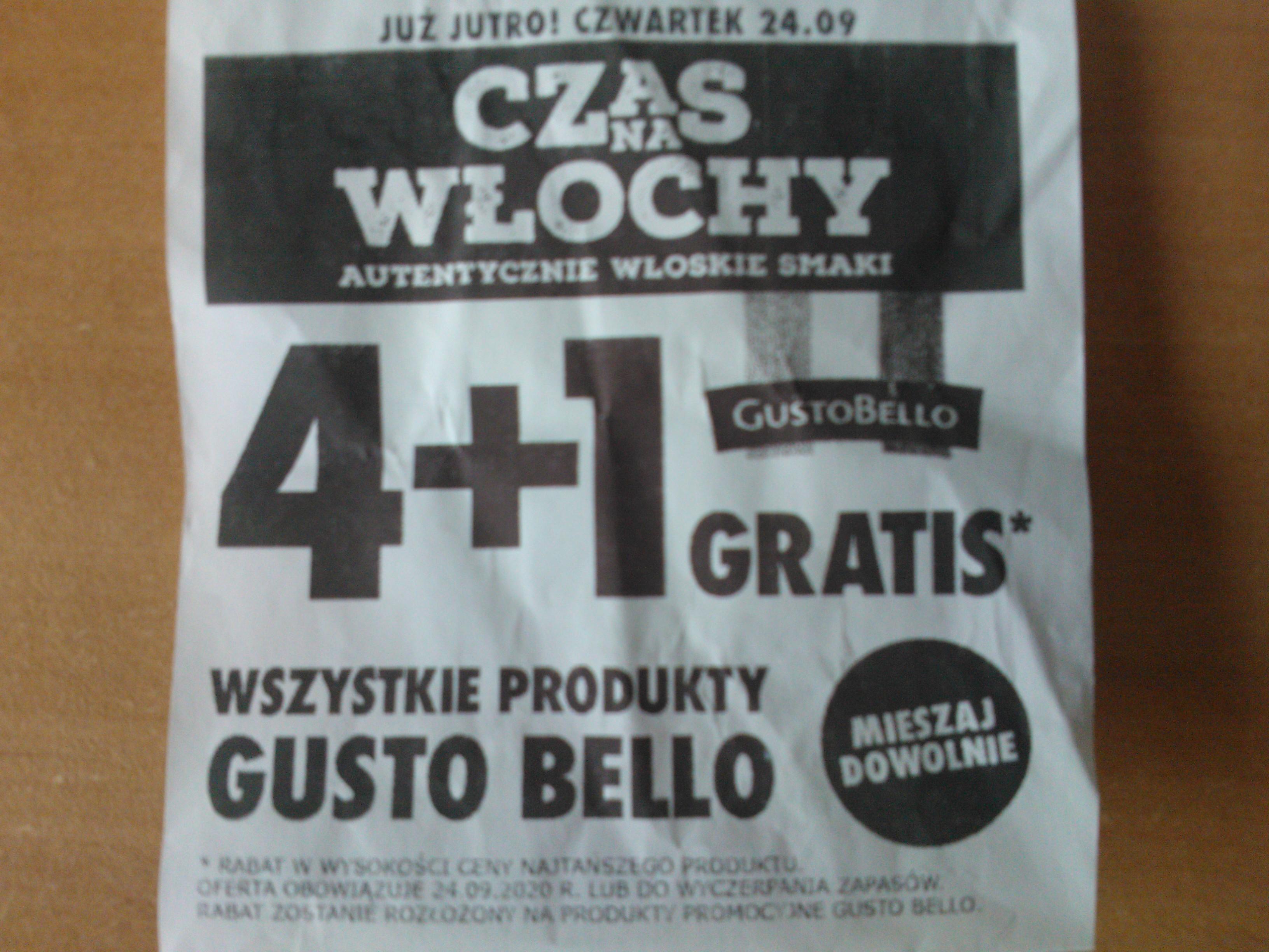 gusto bello 4+1 gratis np. Gorgonzola 150g 3,99zł Biedronka