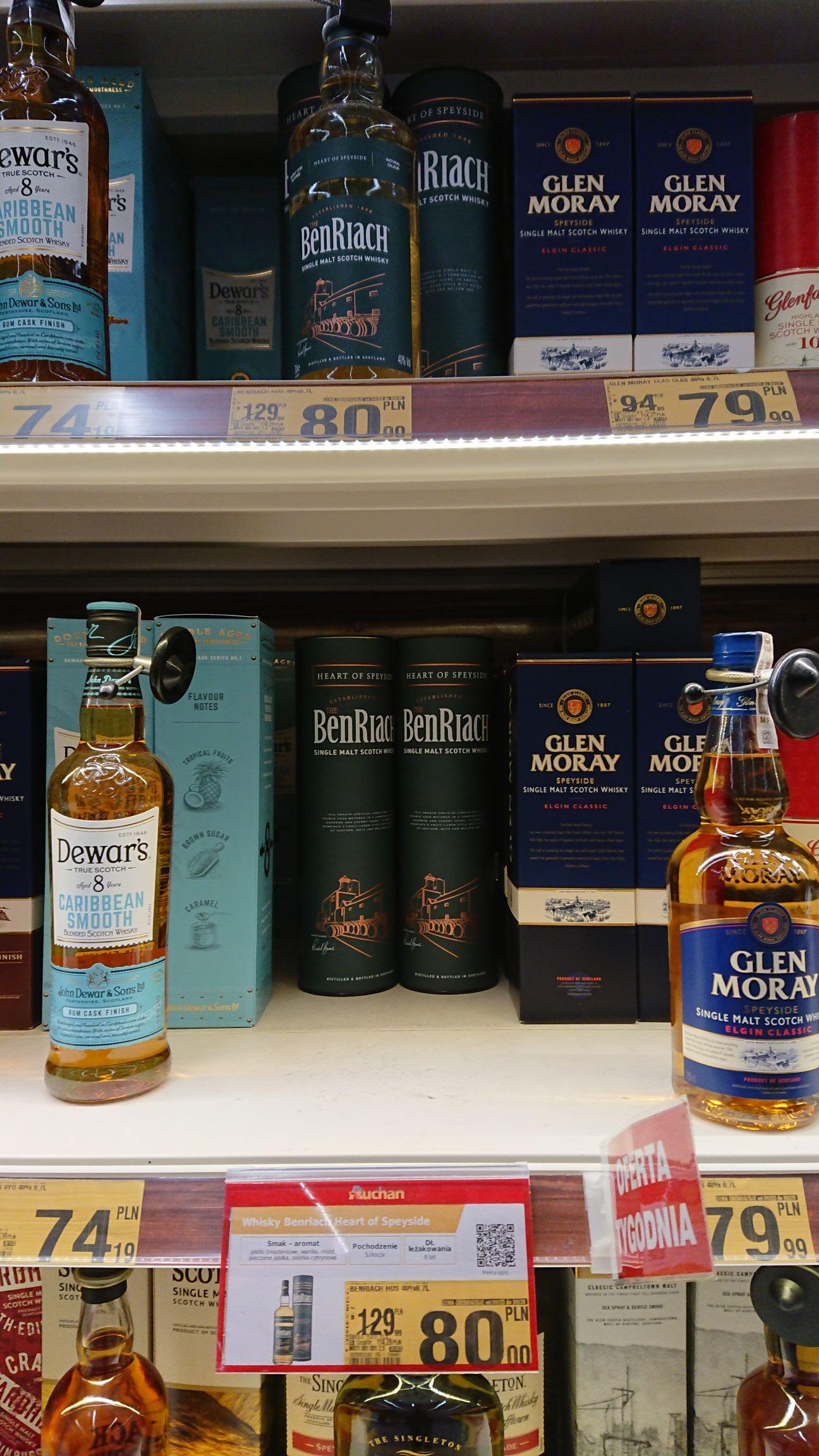 Whisky Benriach - heart of Speyside 0,7L i inne - Oferta zbiorcza - Auchan Sosnowiec