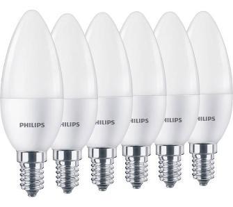 Żarówka Philips LED Świeczka 5,5 W (40 W) 470lm 2700K E14 6 szt.
