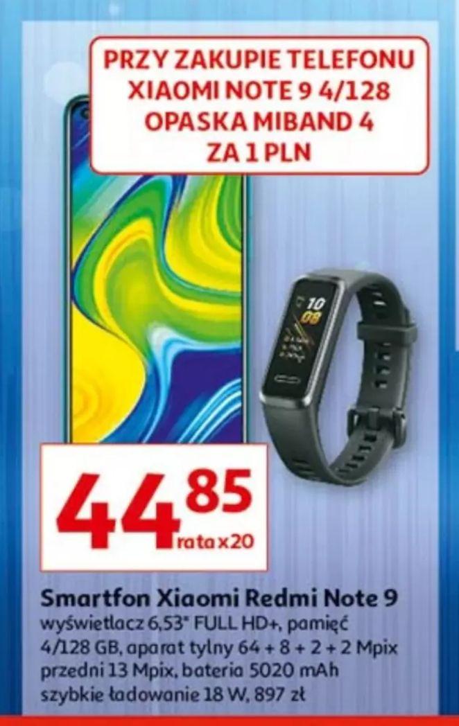 Xiaomi Redmi Note 9 wersja 4/128GB plus opaska Xiaomi Mi Band 4 za 1zl Auchan