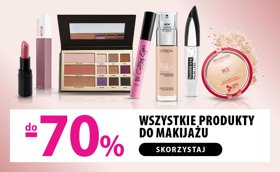 do -70% na wszystkie marki makijażowe w HEBE zestawienie wybranych produktów