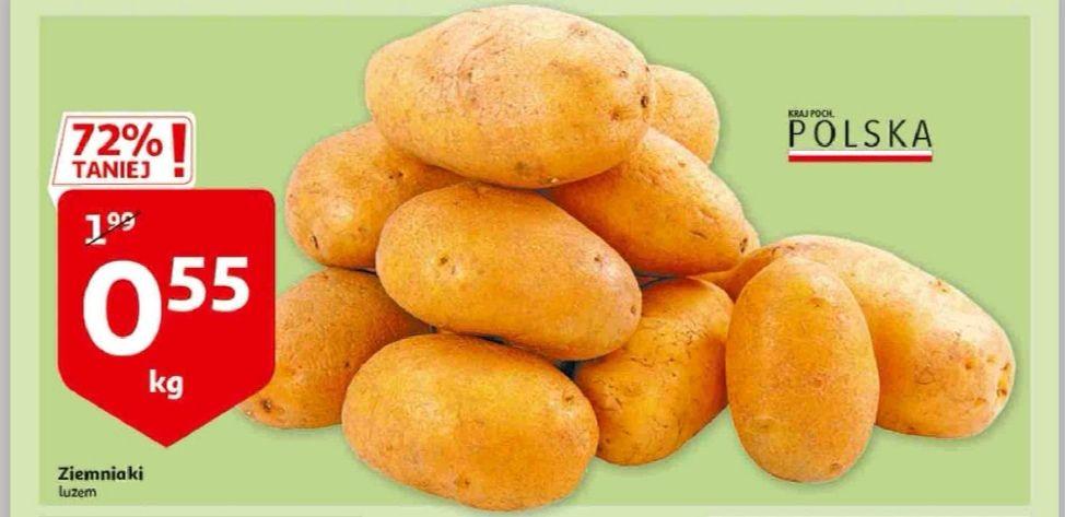 Ziemniaki luz za 0.55 pln za kg w Auchan