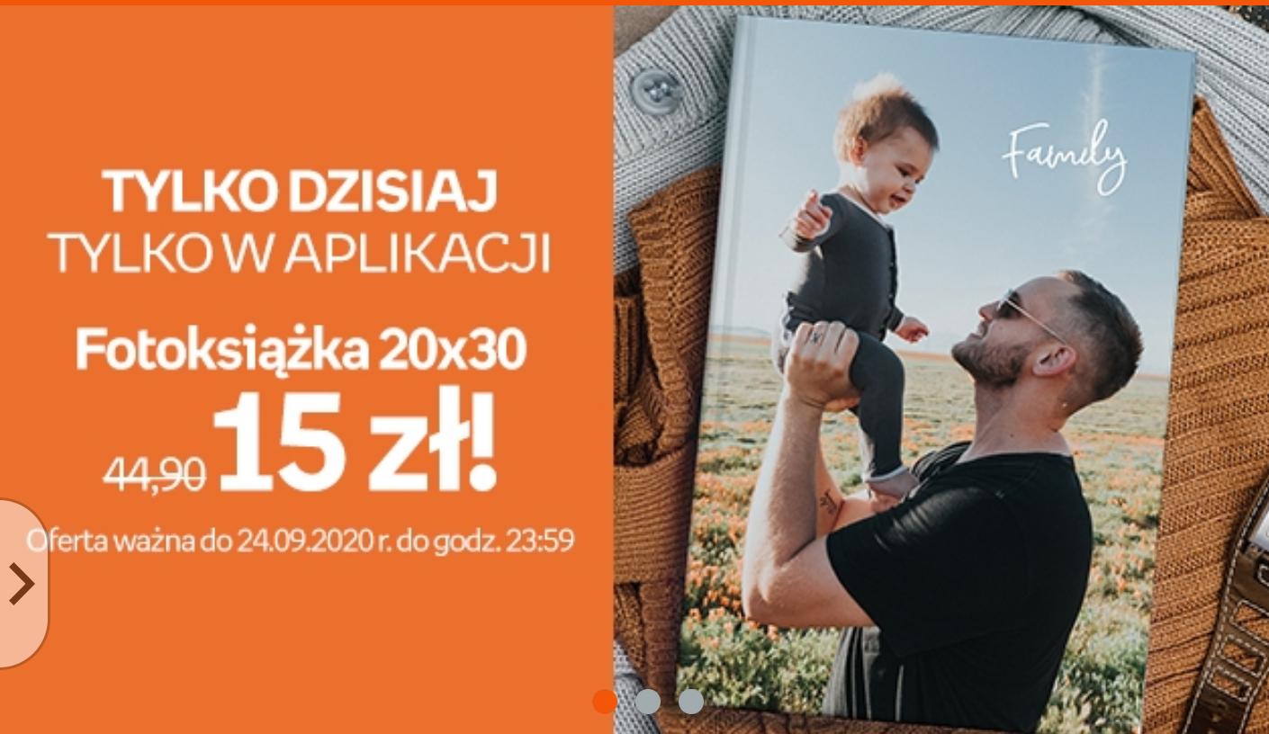 Fotoksiążka 20x30 aplikacja Empik Foto