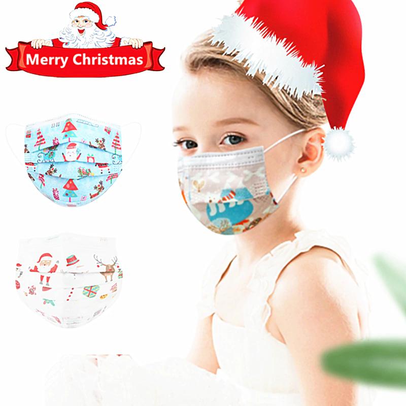 Maseczki z wzorami świątecznymi dla dzieci i dorosłych $1.99