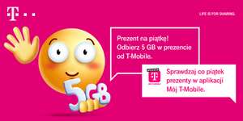 Darmowe 5GB w T-Mobile w ramach Happy Friday