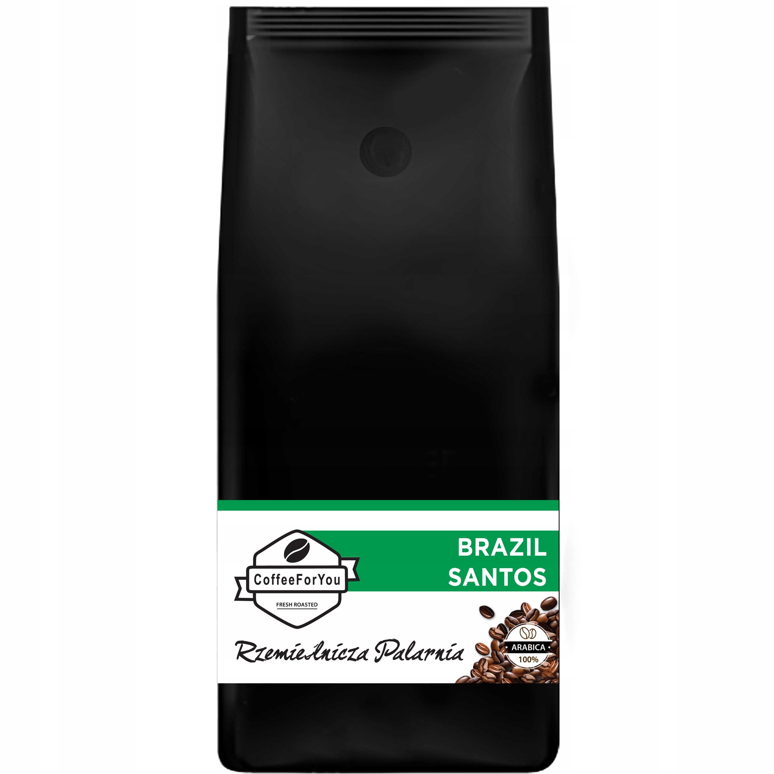 Kawa ziarnista Brazylia Santos Świeżo Palona 1kg