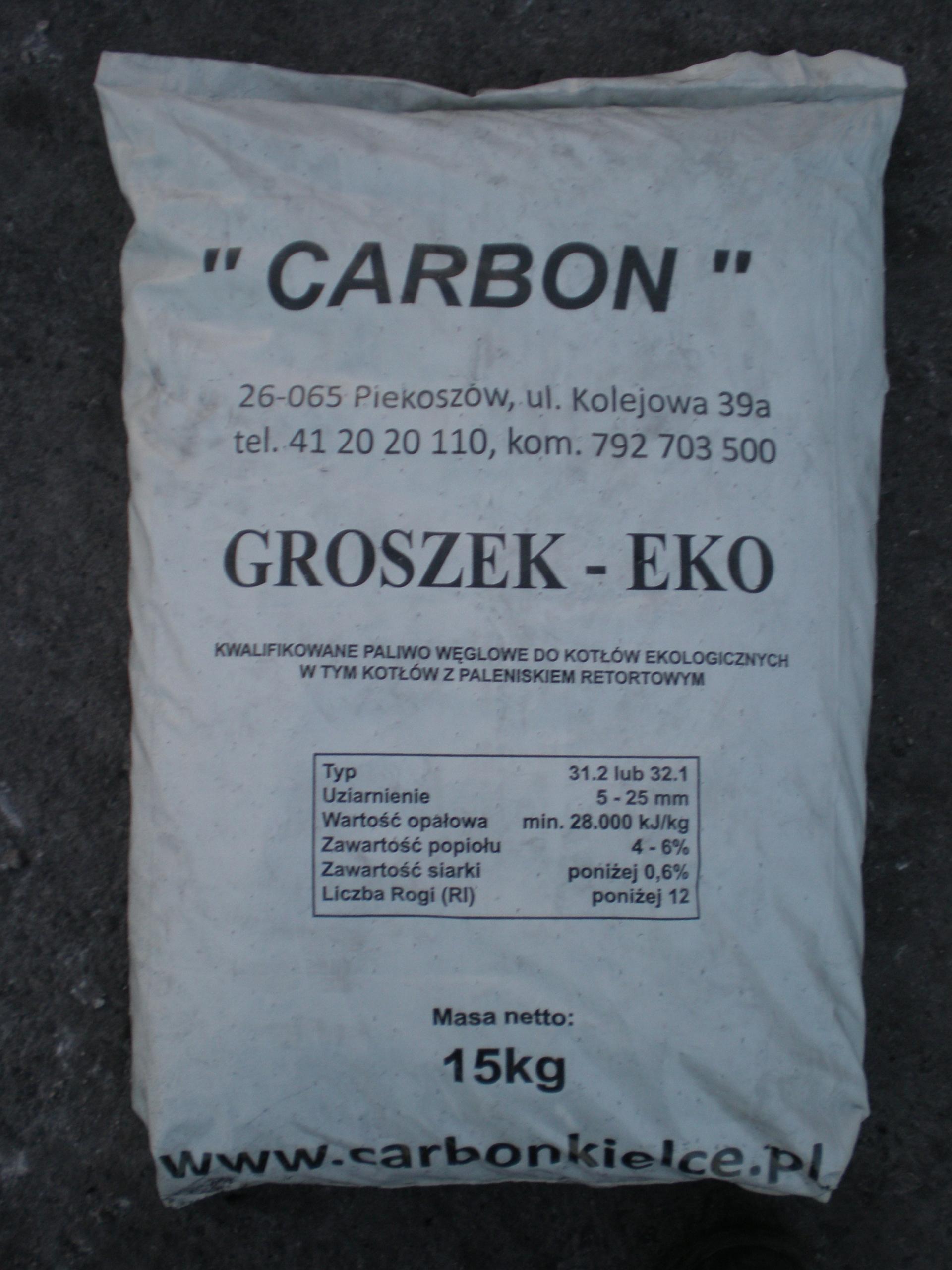 Ekogroszek, Groszek-Eko min 28MJ/kg worek do paczkomatu za darmo przy 3 szt