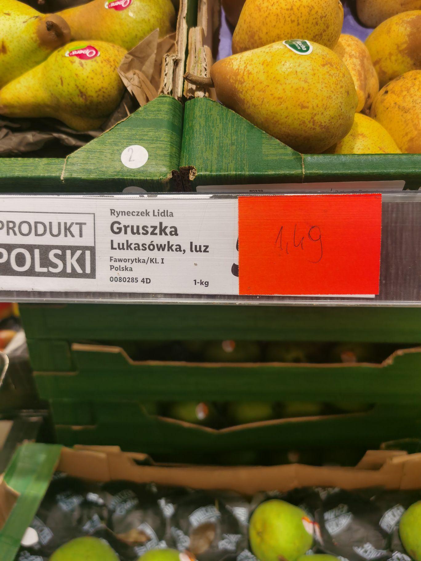 Gruszki Lidl Kłodzko