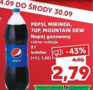 Pepsi, Mirinda, 7up, Mountain DEW 2L