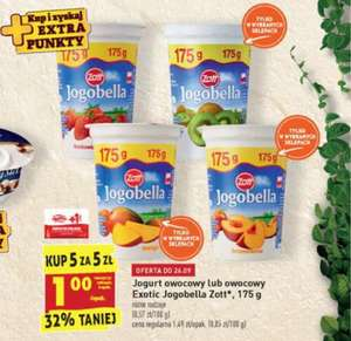 Jogurt Jogobella 175g. Kup 5 sztuk za 5 zł - Biedronka