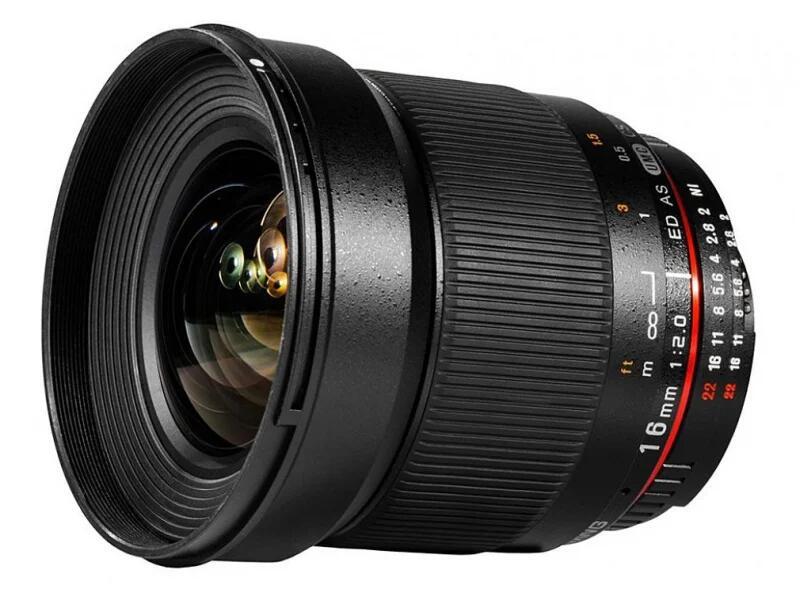 Obiektyw Samyang 16mm F2.0 ED AS UMC CS Nikon i inne również do Canon