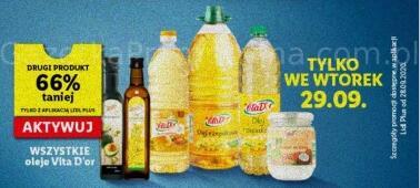 Wszystkie oleje Vita D'or Drugi 66% taniej @Lidl