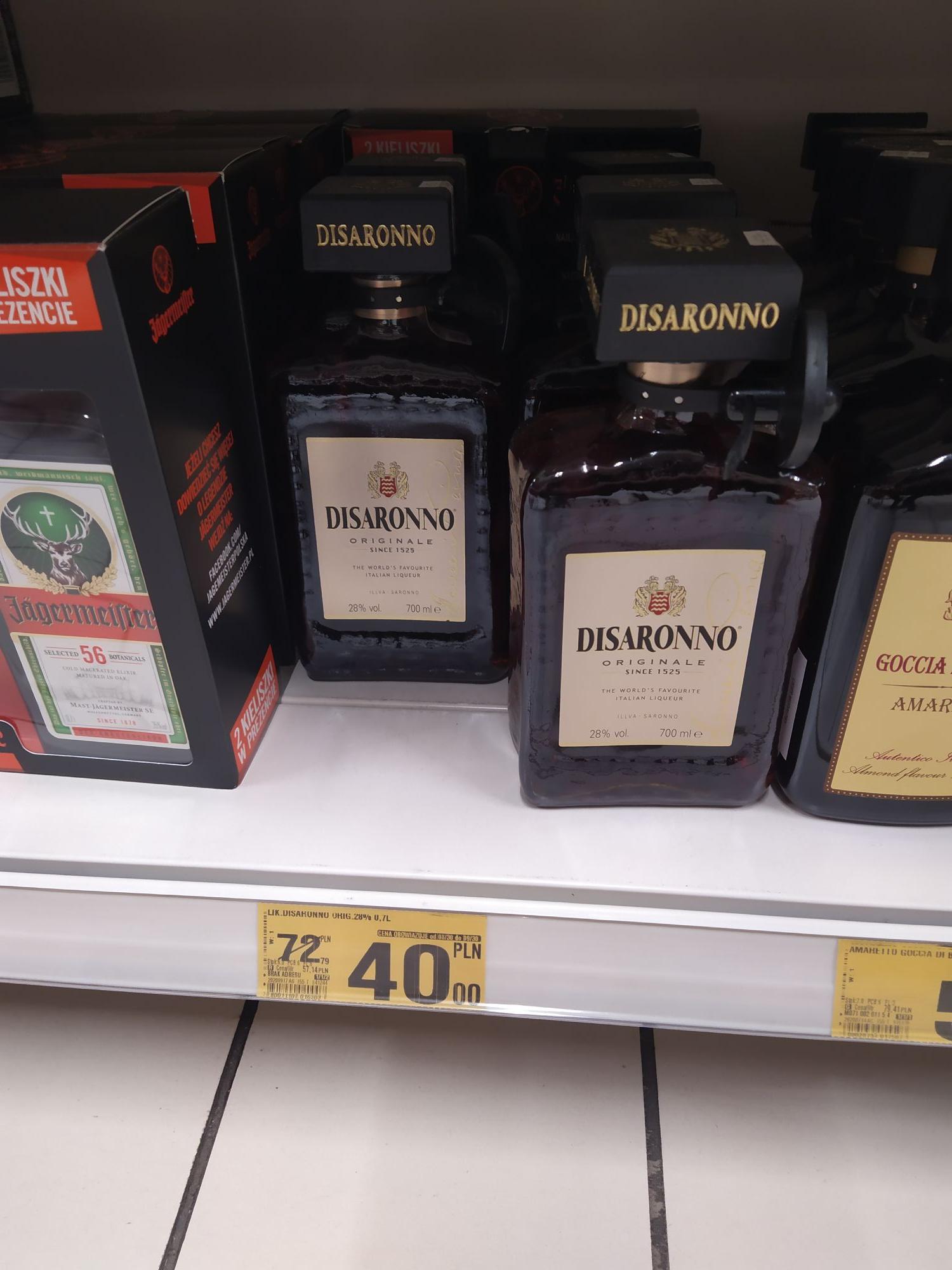 Disaronno likier oraz inne alko Auchan Sosnowiec