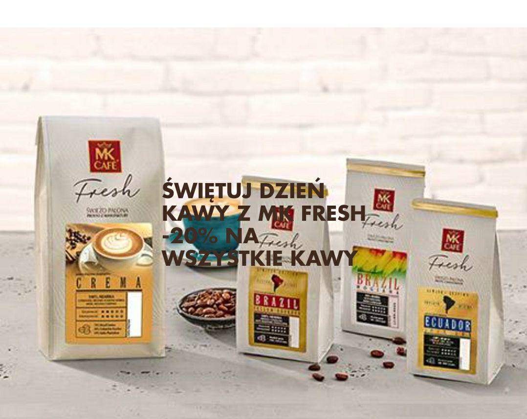 MK Cafe FRESH 20% na wszystkie kawy