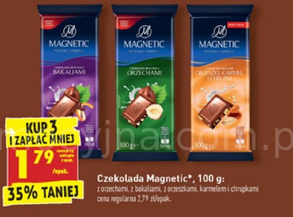 Czekolada Magnetic 100g 4 rodzaje przy zakupie 3 szt. @Biedronka