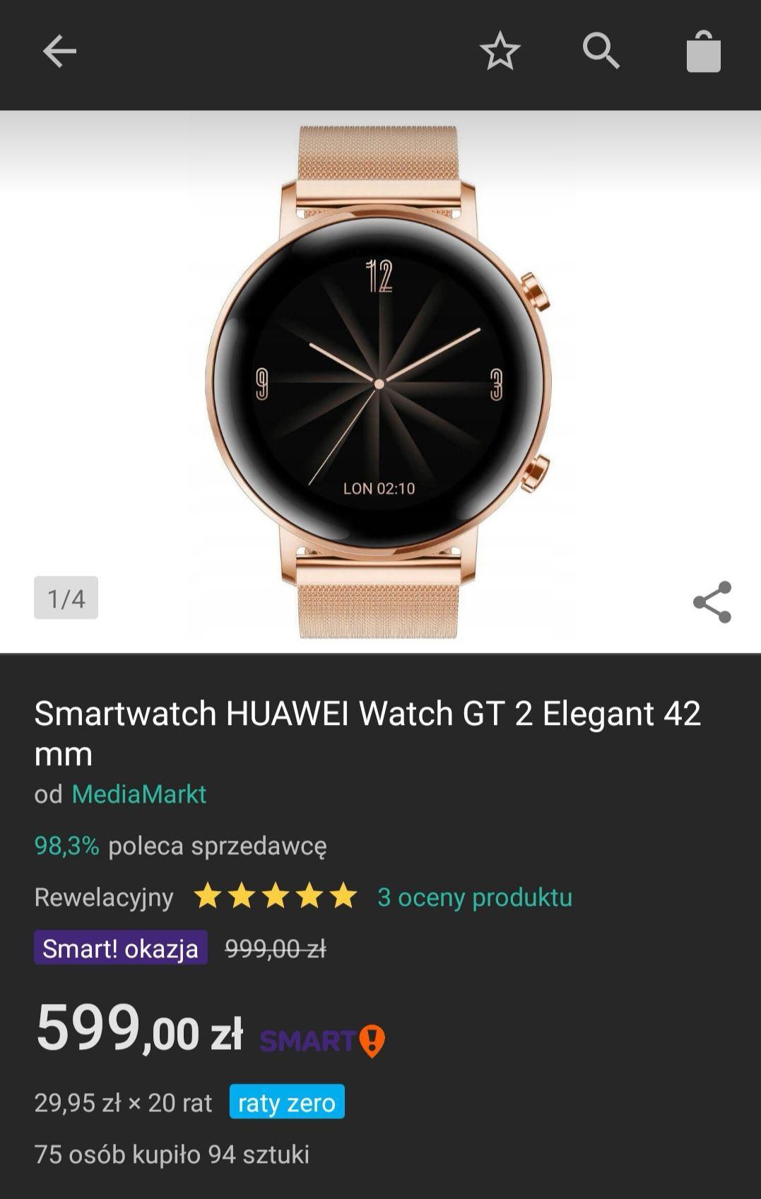 Huawei Watch gt 2 42mm złoty z Allegro Smart