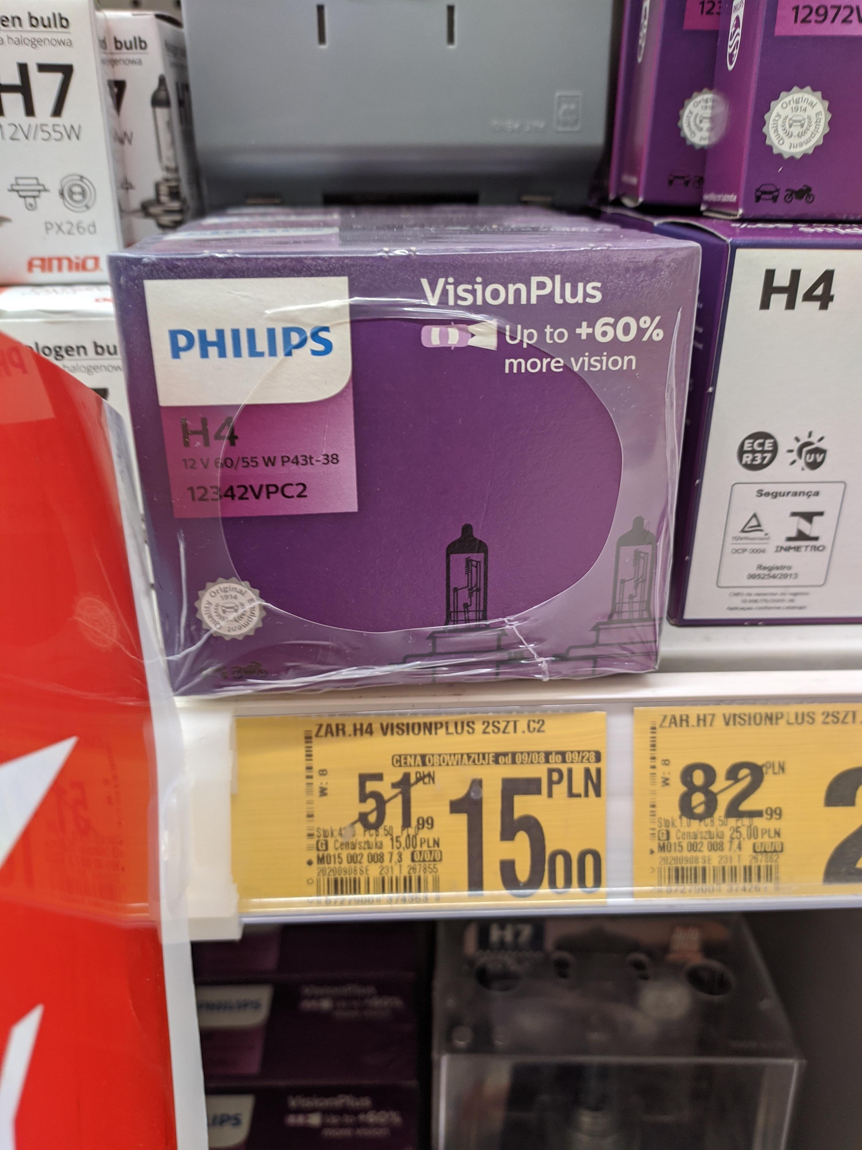 Dwupak Żarówek H4 Philips Auchan Toruń, H7 za 25zł