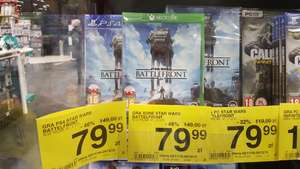 Star Wars Battlefront PS4 /Xbox One /PC w Carrefour
