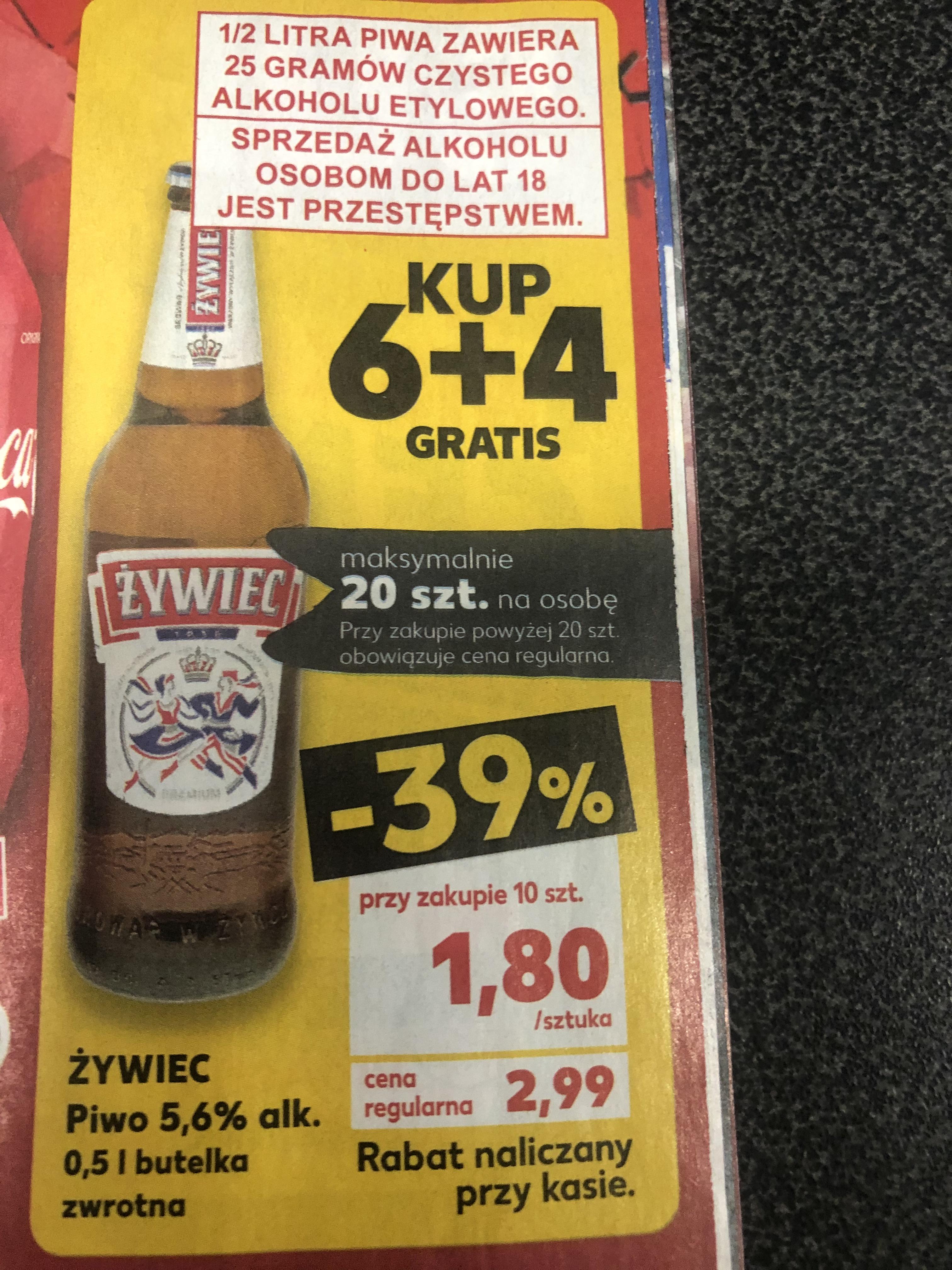 Piwo Żywiec 10 w cenie 6