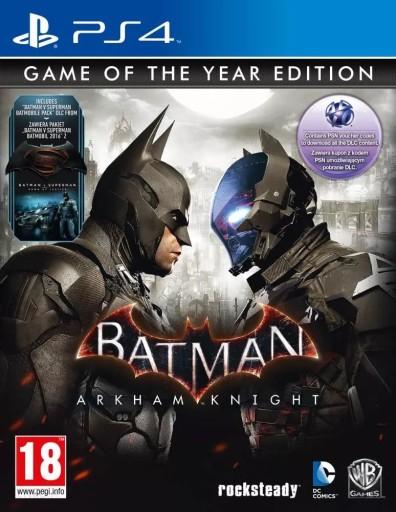 BATMAN ARKHAM KNIGHT GOTY / PS4 / PL / NOWA