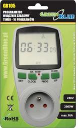 GreenBlue Włącznik czasowy - timer cyfrowy 16 programów German plug max 240 programów (GB105)