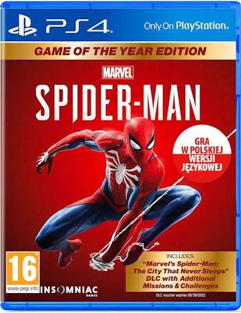 Spiderman Spider-Man PS4 pl GOTY EDYCJA GRY ROKU