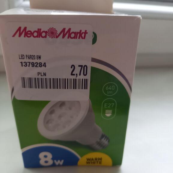 Żarówka LED PAR20 8W /E27
