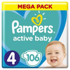 Pampers Active Baby rom. 4 / 106 sztuk