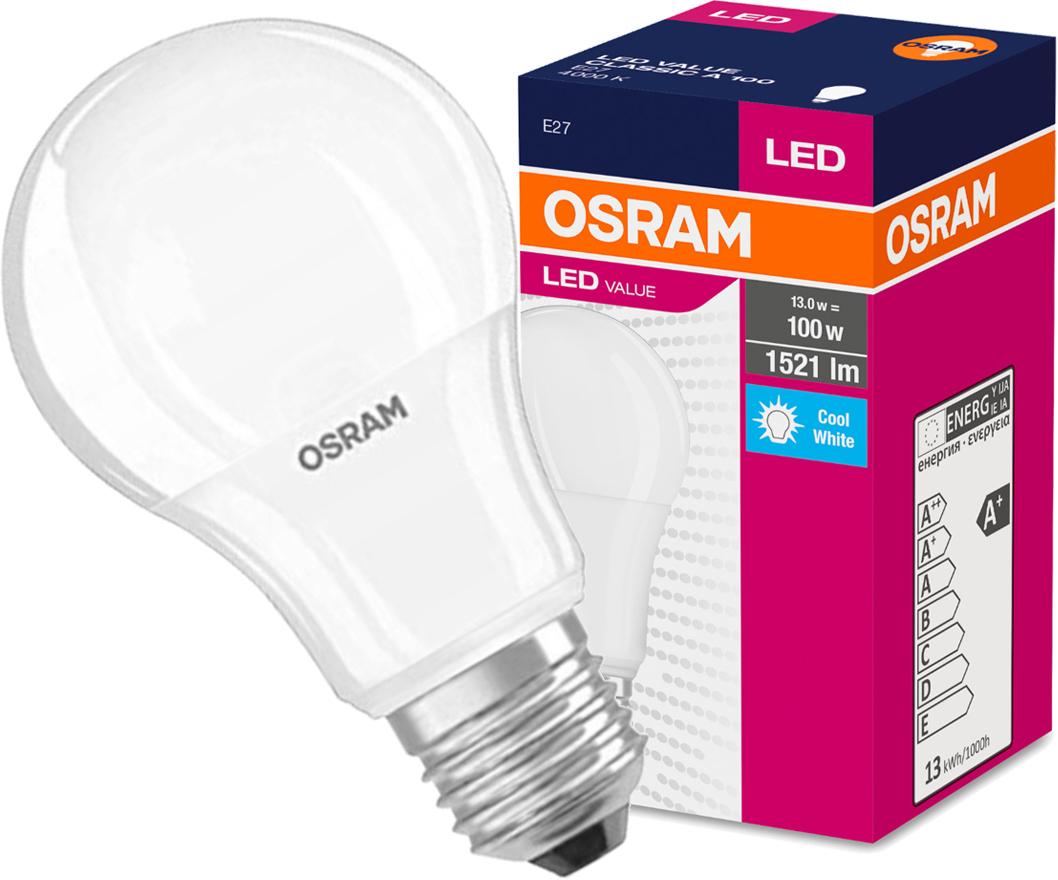 Żarówka LED A60 E27 13W = 100W 1521lm OSRAM 4000K NEUTRALNA 230V