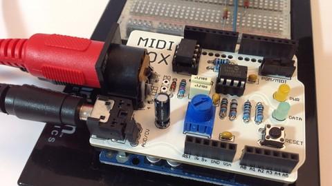 Udemy kilka kursów mikrokontrolery itp. Make Your Own Arduino Shield