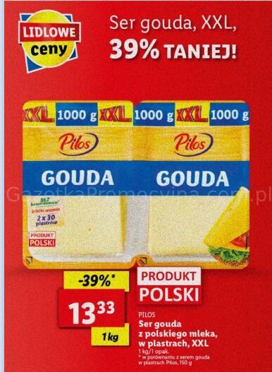 Ser Gouda w plastrach 1kg @Lidl