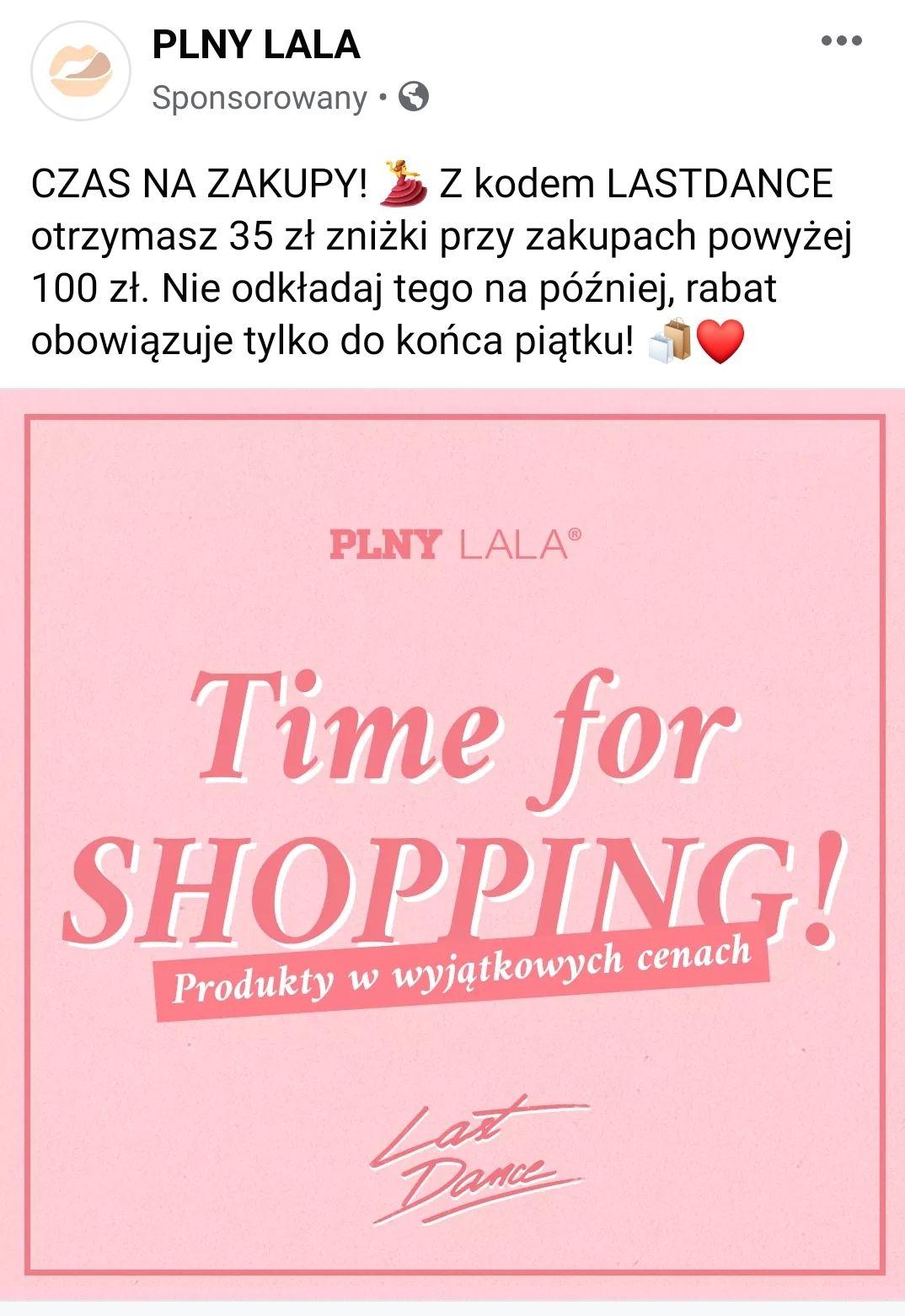 -35 PLN przy zamówienie od 100 zł PLNY LALA